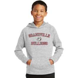 Sport-Tek Youth PosiCharge Electric Heather Fleece Hooded Pullover