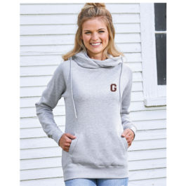 Enza Ladies Classic Fleece Funnel Neck Pullover Hood