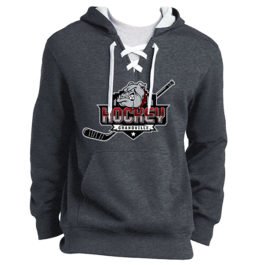 Lace Up Pullover Hooded Sweatshirt – Grandville Hockey – Dark Heather Grey