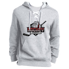 Lace Up Pullover Hooded Sweatshirt – Grandville Hockey – Grey
